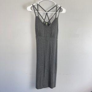 Dakini knit mini dress strappy heather grey